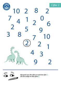 Rondje om alle cijfers 2 Hindi Worksheets, Kids Math Worksheets, 3 Year Old Activities, Preschool Activities, First Fathers Day Gifts, Numbers Preschool, Printable Numbers, School Readiness, Math For Kids
