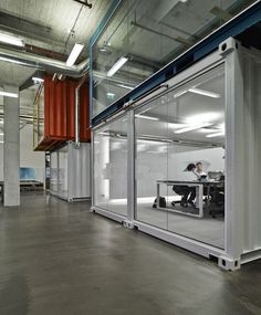 recycled shipping container office from Office Snapshots #officesnapshots #shippingcontainer