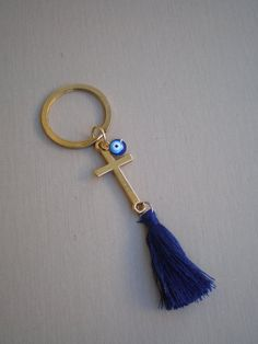Keychain martyrika - evil eye martyrika-Orthodox baptism day - gold and blue martirika -bomboniera Boys First Communion, First Communion Favors, Baby Boy Baptism, Baby Christening, Employee Appreciation Gifts, Crafts For Boys, Easy Gifts, Diy Crochet, Evil Eye