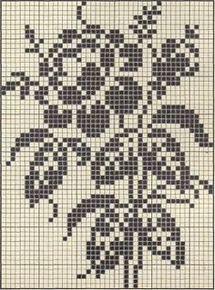 White Rose Summer sweater ~ free vintage filet crochet pattern