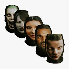 Freak Masks. Upload an image and we'll turn it into a freaky wearable mask. Stretchy personalised masks. Pull one on and enter a world of crazed faces and mad eyes. Frighteningly life-like yet there's something terribly amiss.
