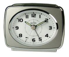 Acctim Retro Titanium Grey Alarm Clock Luminous Hands Snooze & Light