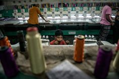 A garment factory in Dhaka that produces shirts and sweaters for the global market. Bangladesh, once poor and irrelevant to the global economy, is now an export powerhouse,