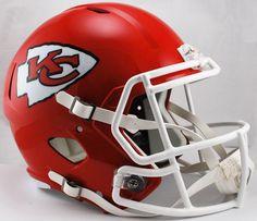 Old Ghost Collectibles - Kansas City Chiefs NFL Riddell Full Size Replica Speed Football Helmet, $105.99 (http://www.oldghostcollectibles.com/kansas-city-chiefs-nfl-riddell-full-size-replica-speed-football-helmet/)