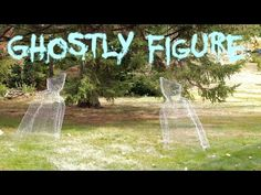 DIY Halloween Chicken Wire Ghost Figure Yard Decoration fast, easy, cheap 2014 - YouTube