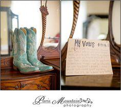 McGarity House Paris Mountain Photography Wedding Boots