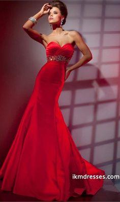 http://www.ikmdresses.com/Red-Prom-Dresses-Sweetheart-Beaded-amp-Ruffled-Column-Glorious-Satin-p85037