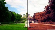 秋色に色調補正するPhotoshopのチュートリアル