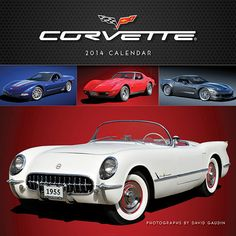 """Corvette Wall Calendar: This calendar is a must have for any true Corvette enthusiast. Images from the GM Media Archives and private photographers exemplify why the Chevrolet Corvette has been proclaimed """"America's Sports Car!"""" All calendar pages are printed on FSC certified paper and use environmentally safe inks. http://www.calendars.com/Sports-Car/Corvette-2014-Wall-Calendar/prod201400005960/?categoryId=cat00692=cat00692"""