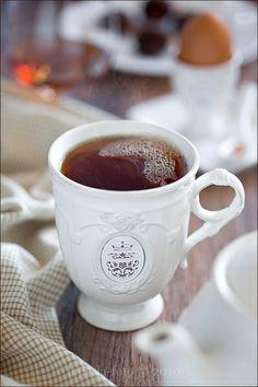 A hot coffee