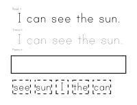 Read it, write it, paste it for sight words