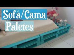 DIY - SOFÁ DE PALLET | Reforma de Kitnet - YouTube