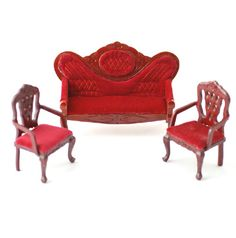 1//12 Dollhouse Miniature Furniture Double Sofa Chair Couple Sofa Couch Bench