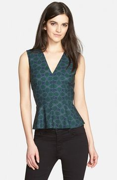1.State+Sleeveless+Peplum+Top+(Nordstrom+Exclusive)+available+at+#Nordstrom