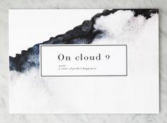 Gebruik de kaarten van Crisp Sheets om te versturen of om thuis je eigen sfeer te creëren. Dit ontwerp is gemaakt in aquarelle kleurtonen en gecombineerd met een woordenboek toelichting: On Cloud 9 – noun – a state of perfect happiness