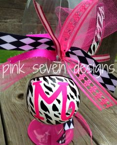 ZEBRA+Print+Letter+Ornament+by+pinksevendesigns+on+Etsy,+$12.00