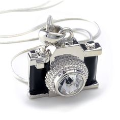 Crystal Camera Pendant Necklace