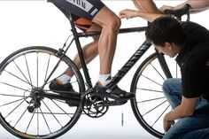 Fore aft saddle position road biking and mountain biking should be found by the balance point method and not the KOPS method generally used. Knee pain