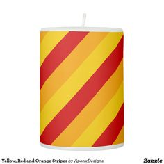 Yellow, Red and Orange Stripes