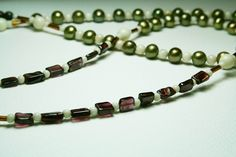 SALE Gemstone Necklace Garnets Pearls Crazy Horse by BohemianIce, $25.00
