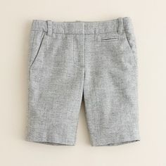"Girls' flannel trouser short from Crewcuts. Love the ""boy"" style."