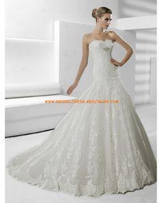 2013 Luxuriöse Brautkleider mit Schleppe mit Spitze A-Linie und Korsage