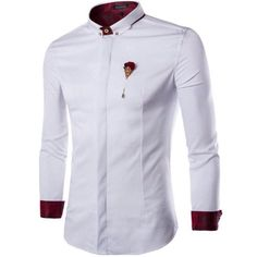 French Front Classic Color Block Slimming Shirt Collar Long Sleeves Button-Down Shirt For Men Fashion Casual, Fashion Wear, Men Casual, Mens Fashion, Fashion Outfits, African Wear, African Fashion, Formal Shirts, Casual Shirts