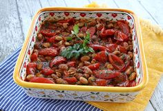 Italian Food Forever » Roasted Summer Tomatoes With Beans