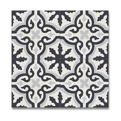 Pack of 12 Argana Black and Grey Handmade Cement/ Granite x Floor and Wall Tile (Morocco) - 17500718 - Overstock Shopping - Great Deals on Accent Pieces Bathroom Floor Tiles, Wall Tiles, Tile Floor, Cement Tiles, Basement Bathroom, Master Bathroom, Ceramic Flooring, Vinyl Tiles, Mosaic Wall