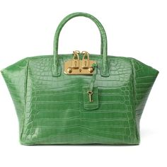 Shop Shiny Jungle Brera 32 Tote by VBH for Preorder on Moda Operandi Crocodile, My Bags, Purses And Bags, Python, Cheap Designer Handbags, Designer Bags, Green Purse, Coach Handbags, Burberry Handbags
