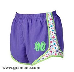 Super cute personalized workout shorts that will jazz up any workout wardrobe!