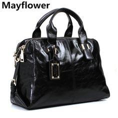 Luxury 100% genuine leather bags New 2014 top designer brand vintage oil wax women leather handbags shoulder women messenger bag $176.00