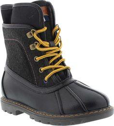 Charles Duck - Tommy Hilfiger | KidsShoes  #Boys #hiking #boot. From the #woods, a #safari or a #day #outdoors, these hiking #boots will have him #covered. #Lace-up closure give these boots #classic #appeal. Synthetic materials. #KidsShoes #KS #KidsSizing #KidsSizeUp #KidsDollars #TH #TommyHilfiger #DuckBoot #Duck #Boyish #Cool #Different #Trendy #KidsFashion #KidsFootwear #Outdoorsy