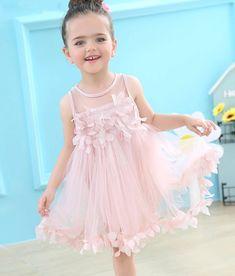 Girls party birthday dress in pink. www.poshtots.com.au Gowns For Girls, Toddler Girl Dresses, Girls Dresses, Baby Dresses, Flower Dresses, Cute Dresses, Formal Dresses, Dresser, Girls Party Dress