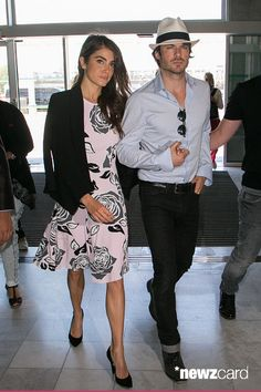 Actors Ian Somerhalder and Nikki Reed are seen at Nice airport during the annual Cannes Film Festival on May 2015 in Cannes, France. Boone Carlyle, Ian Somerhalder Nikki Reed, Ian And Nikki, Most Beautiful Eyes, Vampire Diaries The Originals, Khloe Kardashian, Cannes Film Festival, American Actors, Kylie Jenner
