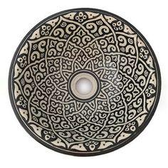 Marokkaanse waskom - 35 cm | Black&White