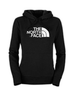 Black Northface Girls Hoodie for School Shopping. The North Face half dome hoodie in black and white.