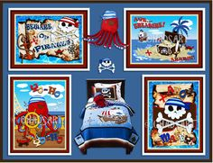 M2M CIRCO PIRATE Collection Kid's Room Decor Pirate by Chadsart