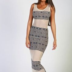 Priya maxi mesh dress
