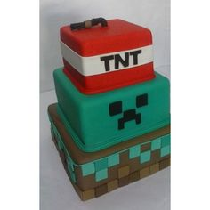 Bolo Cenográfico Fake Minecraft Minecraft Birthday Party, Birthday Parties, Birthday Ideas, Bolo Minecraft, Bolo Fake, Cube, Decorative Boxes, Bernardo, Gabriel