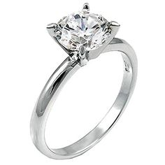2ct Solitaire Engagement ring designer Brilliant cut 925 Silver - http://www.jewelryfashionlife.com/2ct-solitaire-engagement-ring-designer-brilliant-cut-925-silver/