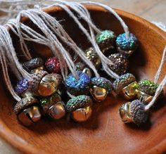 how to: acorn bell necklaces