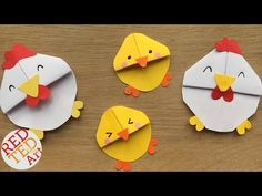 Chicken Bookmark Design - Chicks & Chickens for Spring & Easter DIYs - C...