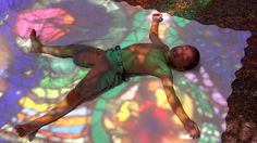 """Sunbathing in colored light. Wholeo dome, 2012 (1436×808). Artist Carol Geary, aka Caroling, conceived, built, and completed this incredible stained glass dome, entitled Wholeo Dome (pronounced """"Holy O""""), in 1974"""
