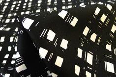 Crosshatch Black - Tessuti Fabrics