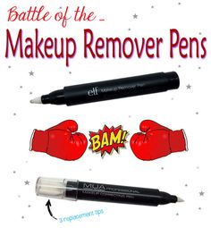 Battle of the Makeup Remover Pens! Who will come out on top? @elfcosmetics or muacosmetics