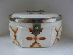 Keksdose Art Deco Spritzdekor