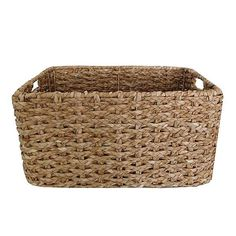 Crafted from quality rush braids and finished in a simple yet modern and stylish natural colourway suitable to compliment all types of decor, this rush basket i. Wire Storage, Storage Boxes, Storage Baskets, Easy Storage, Copper Wire Basket, Wire Laundry Basket, Hamper Basket, Gift Basket, Types Of Curtains