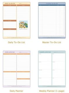 Soap Deli News: Staying on top of things. Printable lists for an organized day.