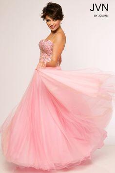 JVN by Jovani Beaded Pink Dress JVN24734 $398.00